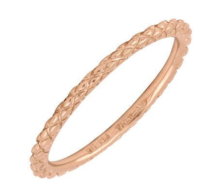 Simply Stacks Sterling 18K Rose Gold-Plated 1.5mm CrsCrossRing