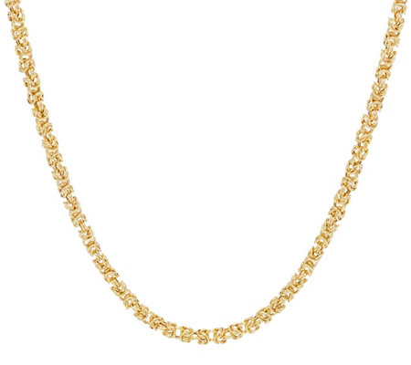 "14K Gold 36"" Dimensional Byzantine Chain Necklace, 12.7g"