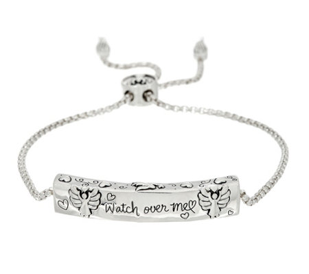 Extraordinary Life Sterling Motif Adjustable Bracelet
