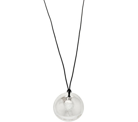 RLM Bronze & Leather Disc Pendant Necklace