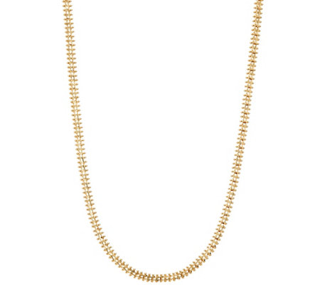 "Imperial Gold 18"" Wheat Necklace, 14K Gold, 12.8g"