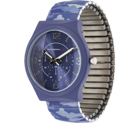 Isaac Mizrahi Live! SOHO Soft Touch Camo Expansion Watch