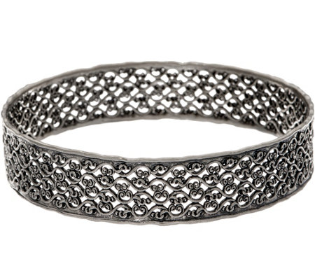 Or Paz Sterling Silver 19.0g Lace Design Bangle