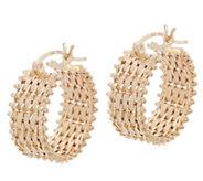 Imperial Gold Satin Lame Hoop Earrings, 14K Gold - J354854
