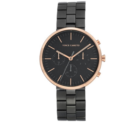 Vince Camuto Men's Multi-Function Black Bracelet Watch