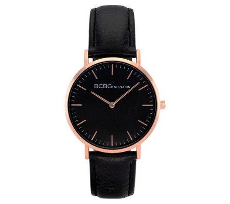 BCBGeneration Women's Rosetone Black Dial Watch