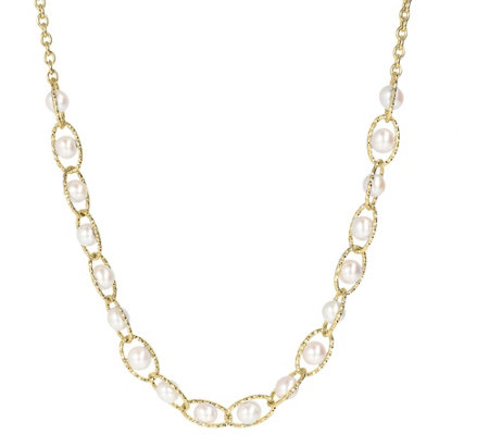 Honora Cultured Pearl Necklace, Sterling Silver