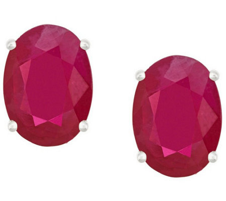 Premier 2.40cttw Oval Ruby Stud Earrings, 14K