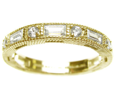 Judith Ripka Sterling/14K Clad 1.20cttw Diamonique Ring