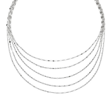 "Sterling Silver 5-Strand 17"" Necklace b y Silver Style"