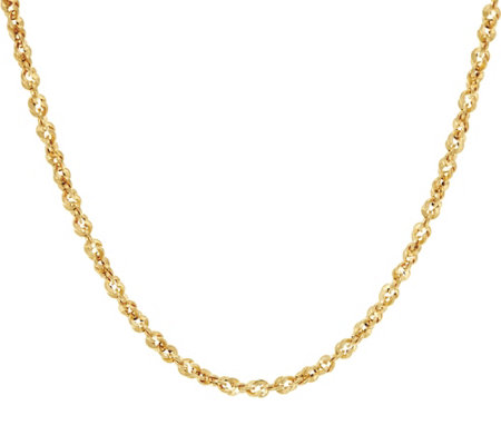 "Italian Gold 18"" French Rope Necklace 14K Gold, 4.7g"