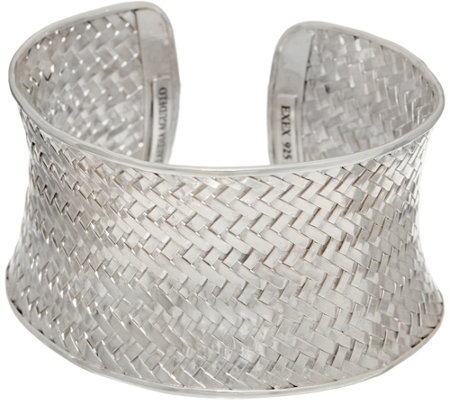 EXEX by Claudia Agudelo Sterling Silver Woven Cuff