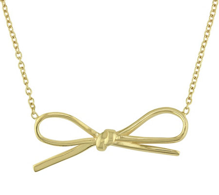 Sterling Bow Necklace by Silver Style