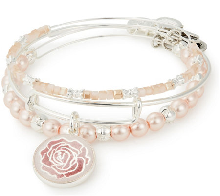 Alex and Ani Rose Art Infusion Set of 3 Bangles