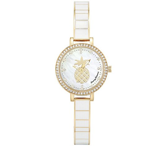 Tommy Bahama Women's White Pineapple Watch