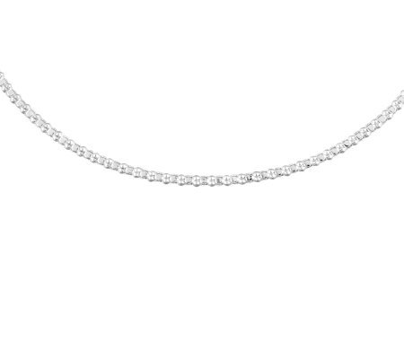 "UltraFine Silver 18"" Popcorn Chain Necklace, 6.8g"