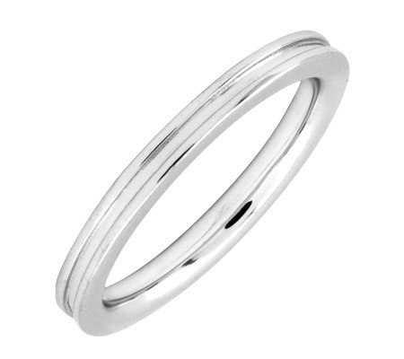 Simply Stacks Sterling Silver Grooved 2.25mm Ring