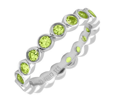 Simply Stacks Sterling Peridot Eternity Style Stackable Ring