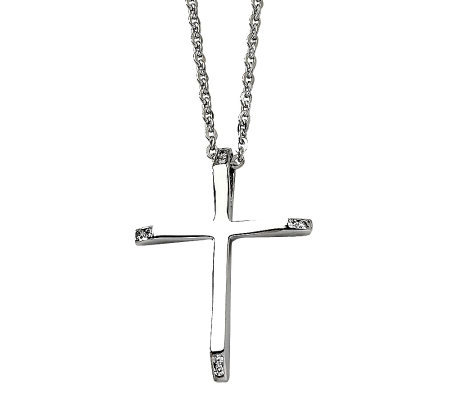 Steel by design stainless steel cross pendant page 1 qvc steel by design stainless steel cross pendant aloadofball Image collections