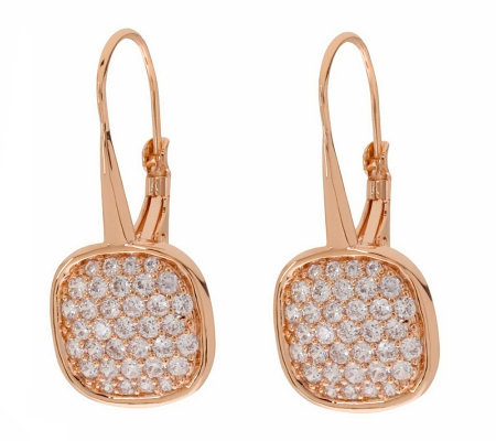 Bronze Pave' Crystal Dangle Earrings by BronzoItalia