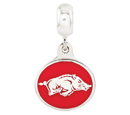 Sterling Silver University of Arkansas Dangle Bead