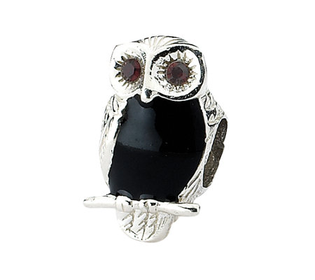 Prerogative Sterling Polished Owl Bead