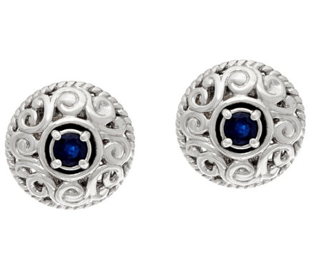 Carolyn Pollack Sterling Silver Birthstone Signature Earrings
