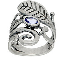 Or Paz Sterling Gemstone & Leaf Ring - J351656