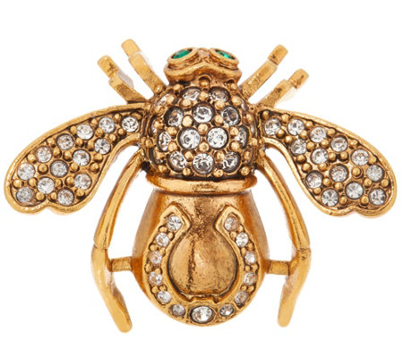 Joan Rivers Lucky Horseshoe Bee Pin
