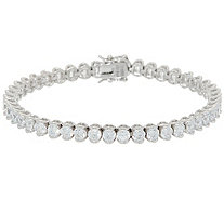 Diamonique Royal Collection Heart Gallery Tennis Bracelet - J356456