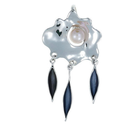 Hagit Sterling Cultured Pearl Pendant