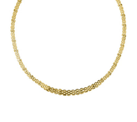 "14K Gold 17"" Graduated Panther Link Necklace, 10.6g"
