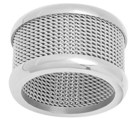 Steel by Design Stainless Steel Mesh Band Ring