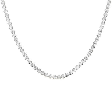 "Diamonique 11.50 cttw 16"" Tennis Necklace, Sterling"