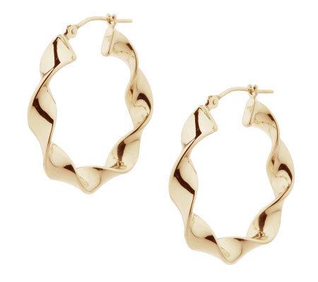 Eternagold 1 Polished Twisted Hoop Earrings 14k Gold