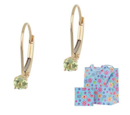 Children S Birthstone Leverback Earrings 14k Gold
