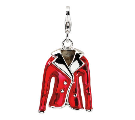 Amore La Vita Sterling Dimensional Red Jacketcharm