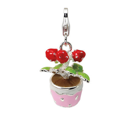 Amore La Vita Sterling Dimensional Flowers inPot Charm