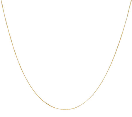 "EternaGold 22"" Adjustable Box Chain Necklace 14K Gold, 1.6g"