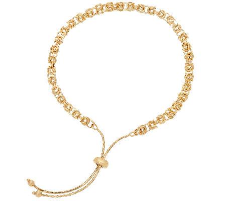 14k Gold Adjule Byzantine Bracelet 3 2g