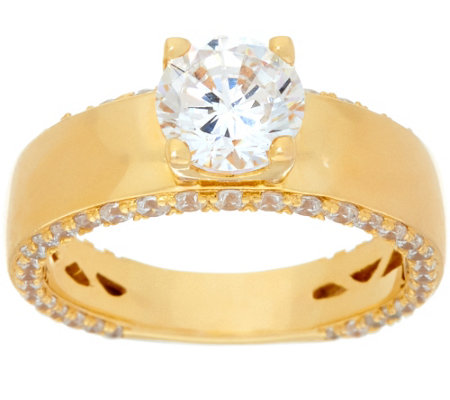 """As Is"" Diamonique 2.25 cttw Solitaire Ring, Sterling or 14K"