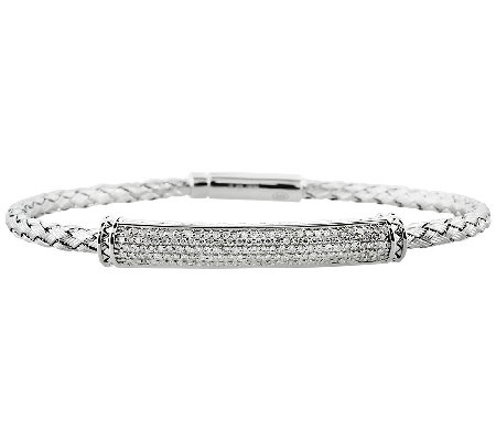 Woven Diamond Bracelet Sterling 5/8 cttw by Aff inity