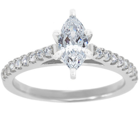 Diamond Pave Ring, 14K White Gold 1/2 cttw, byAffinity