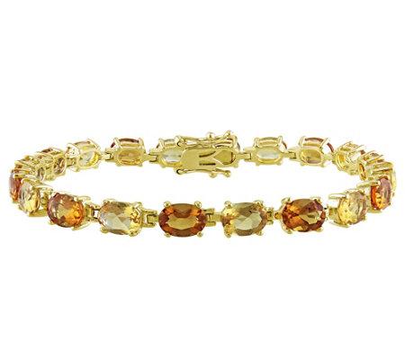 Sterling 14 00 Cttw Citrine Tennis Bracelet