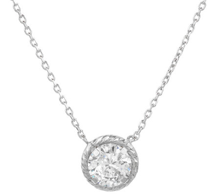 Diamonique 1.00 cttw Diamond Cut Necklace, Sterling