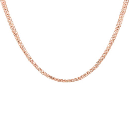 "14K Gold 18"" Wheat Chain Necklace, 5.1g"
