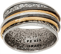 Or Paz Sterling Silver Tri-color Spinner Ring - J352457