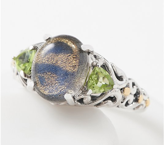 Artisan Crafted Sterling Silver Three Stone Ring