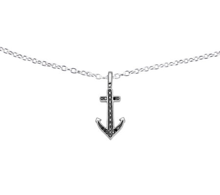 Reversible Anchor Pendant, Sterling, 1/5 ctt w,by Affinity