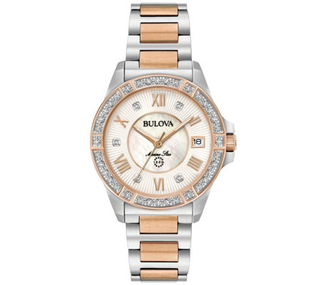 Bulova Women S Diamond Two Tone Marine Star Watch